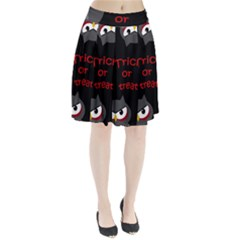 Trick or treat - owls Pleated Skirt