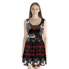 Trick or treat - owls Split Back Mini Dress