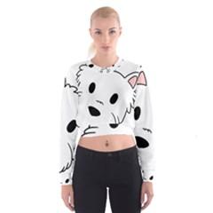 Westie Cartoon Head Women s Cropped Sweatshirt