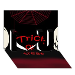 Trick or treat 2 I Love You 3D Greeting Card (7x5)