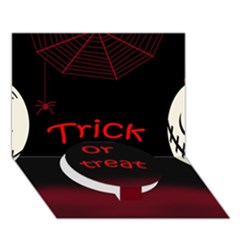 Trick or treat 2 Circle Bottom 3D Greeting Card (7x5)