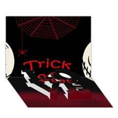 Trick or treat 2 LOVE Bottom 3D Greeting Card (7x5)