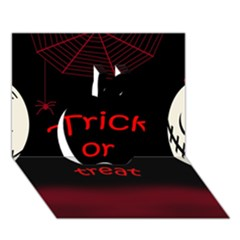Trick or treat 2 Apple 3D Greeting Card (7x5)