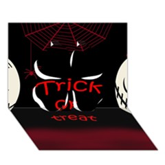 Trick or treat 2 Clover 3D Greeting Card (7x5)