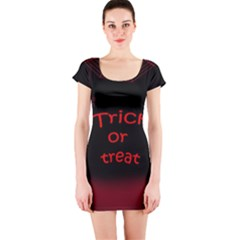 Trick or treat 2 Short Sleeve Bodycon Dress