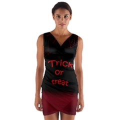 Trick or treat 2 Wrap Front Bodycon Dress