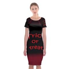 Trick or treat 2 Classic Short Sleeve Midi Dress