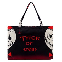 Trick or treat 2 Medium Zipper Tote Bag