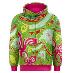 Green Organic Abstract Men s Zipper Hoodie