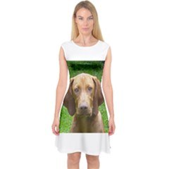 Vizsla Capsleeve Midi Dress