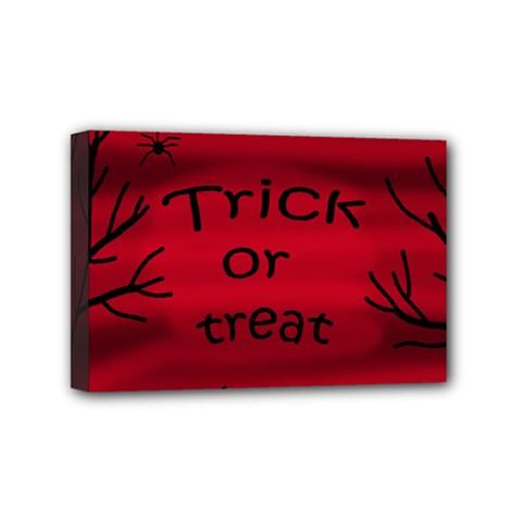 Trick or treat - black cat Mini Canvas 6  x 4