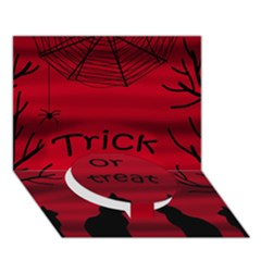 Trick or treat - black cat Circle Bottom 3D Greeting Card (7x5)