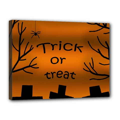 Trick or treat - cemetery  Canvas 16  x 12