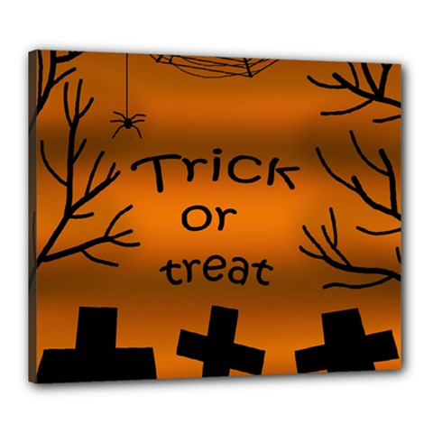 Trick or treat - cemetery  Canvas 24  x 20