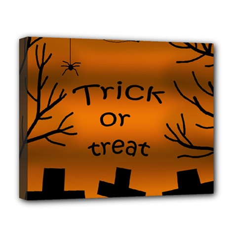 Trick or treat - cemetery  Deluxe Canvas 20  x 16