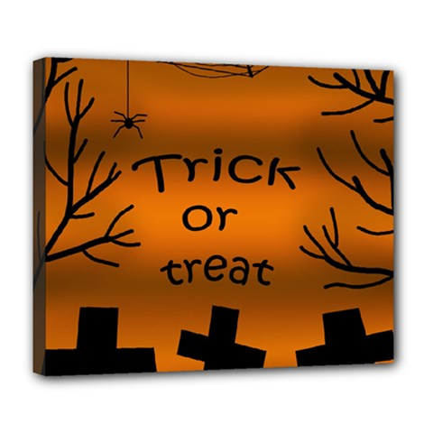 Trick or treat - cemetery  Deluxe Canvas 24  x 20