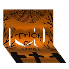Trick or treat - cemetery  I Love You 3D Greeting Card (7x5)