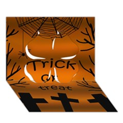 Trick or treat - cemetery  Clover 3D Greeting Card (7x5)