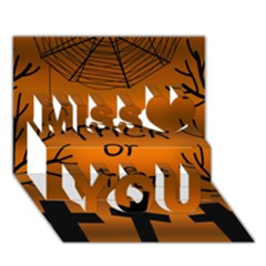 Trick Or Treat   Cemetery  Miss You 3d Greeting Card (7x5)