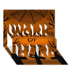 Trick or treat - cemetery  WORK HARD 3D Greeting Card (7x5)