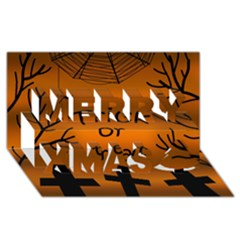 Trick or treat - cemetery  Merry Xmas 3D Greeting Card (8x4)
