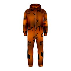 Trick or treat - cemetery  Hooded Jumpsuit (Kids)