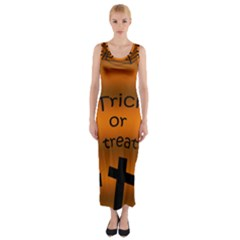 Trick or treat - cemetery  Fitted Maxi Dress