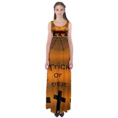 Trick or treat - cemetery  Empire Waist Maxi Dress