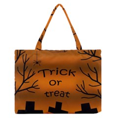 Trick or treat - cemetery  Medium Zipper Tote Bag