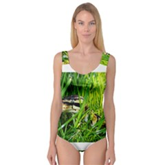 Ball Python In Grass Princess Tank Leotard
