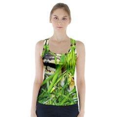 Ball Python In Grass Racer Back Sports Top