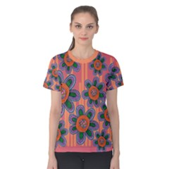 Colorful Floral Dream Women s Cotton Tee