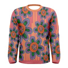 Colorful Floral Dream Men s Long Sleeve Tee