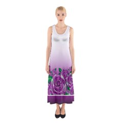 Wrapped In Flowers Sleeveless Maxi Dress