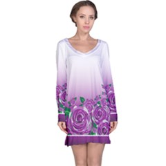 Wrapped In Flowers Long Sleeve Nightdress