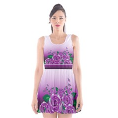 Wrapped In Flowers Scoop Neck Skater Dress