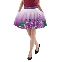 Wrapped In Flowers A-Line Pocket Skirt