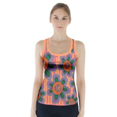 Colorful Floral Dream Racer Back Sports Top