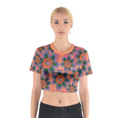 Colorful Floral Dream Cotton Crop Top