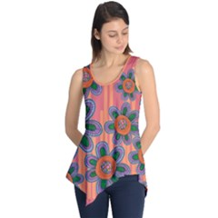 Colorful Floral Dream Sleeveless Tunic