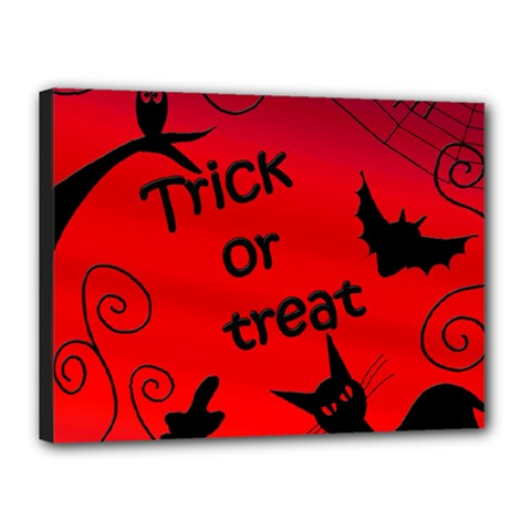 Trick or treat - Halloween landscape Canvas 16  x 12