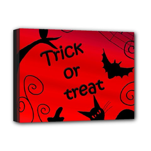 Trick or treat - Halloween landscape Deluxe Canvas 16  x 12