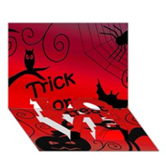 Trick or treat - Halloween landscape LOVE Bottom 3D Greeting Card (7x5)