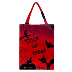 Trick or treat - Halloween landscape Classic Tote Bag