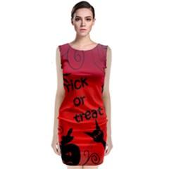 Trick or treat - Halloween landscape Classic Sleeveless Midi Dress