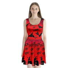Trick or treat - Halloween landscape Split Back Mini Dress