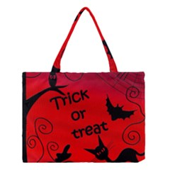 Trick or treat - Halloween landscape Medium Tote Bag