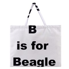 B Is For Beagle Zipper Large Tote Bag