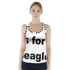 B Is For Beagle Racer Back Sports Top
