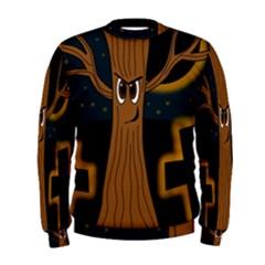 Halloween - Cemetery evil tree Men s Sweatshirt